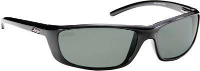 Hobie Eyewear Cabo Sunglasses Shiny Black Frame With Grey PC Lens - Hobie Eyewear Sunglasses