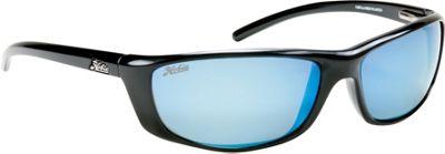Hobie Eyewear Cabo Sunglasses Shiny Black Frame With Grey/Cobalt Mirror PC Lens - Hobie Eyewear Sunglasses