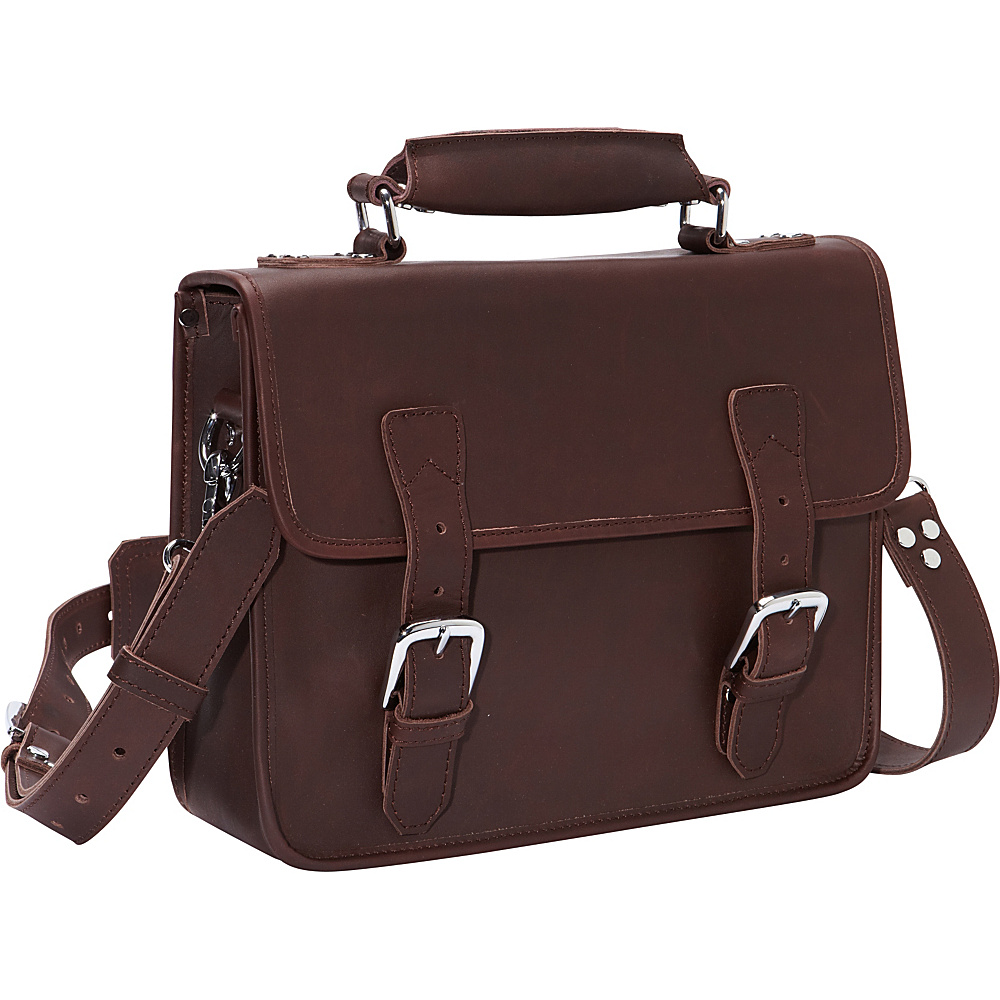 Vagabond Traveler Cowhide Leather Messenger Laptop Bag Coffee Brown - Vagabond Traveler Non-Wheeled Business Cases - Work Bags & Briefcases, Non-Wheeled Business Cases