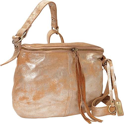 Lucky Brand Cannon Crossbody Metalic Gold - Lucky Brand Leather Handbags