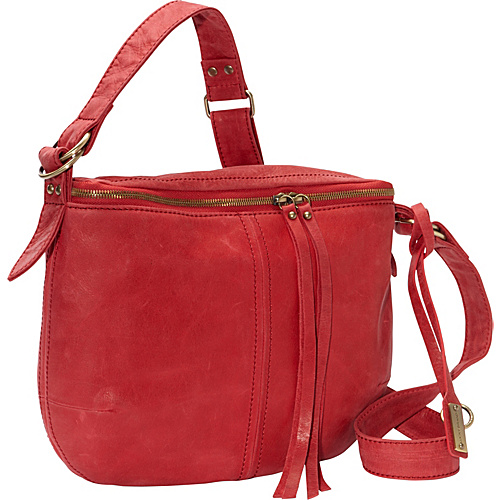Lucky Brand Cannon Crossbody Haute Red - Lucky Brand Leather Handbags