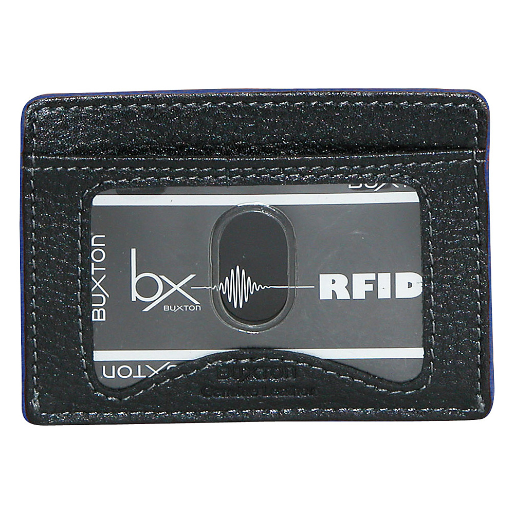 Buxton RFID Front Pocket Get-Away Blue - Buxton Men's Wallets