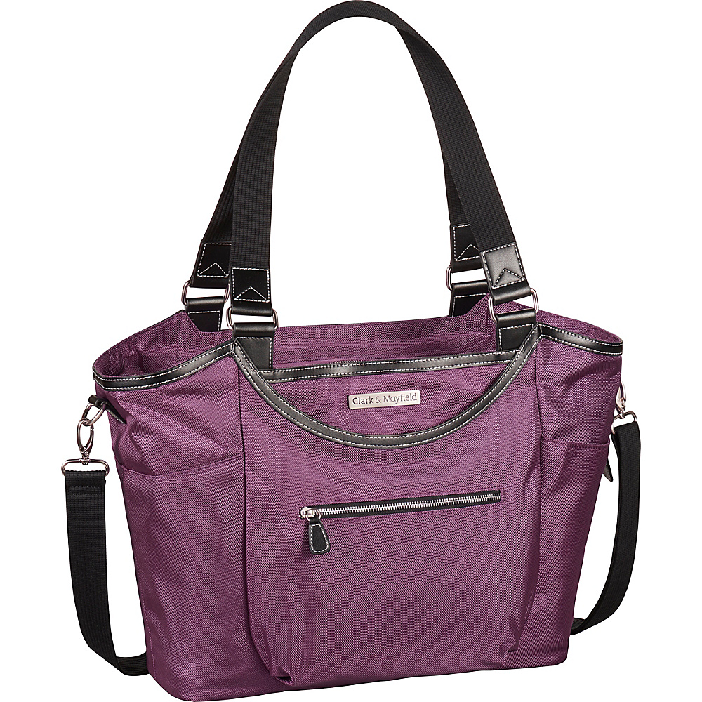 Clark Mayfield Bellevue Laptop Handbag 18.4 Purple Clark Mayfield Women s Business Bags