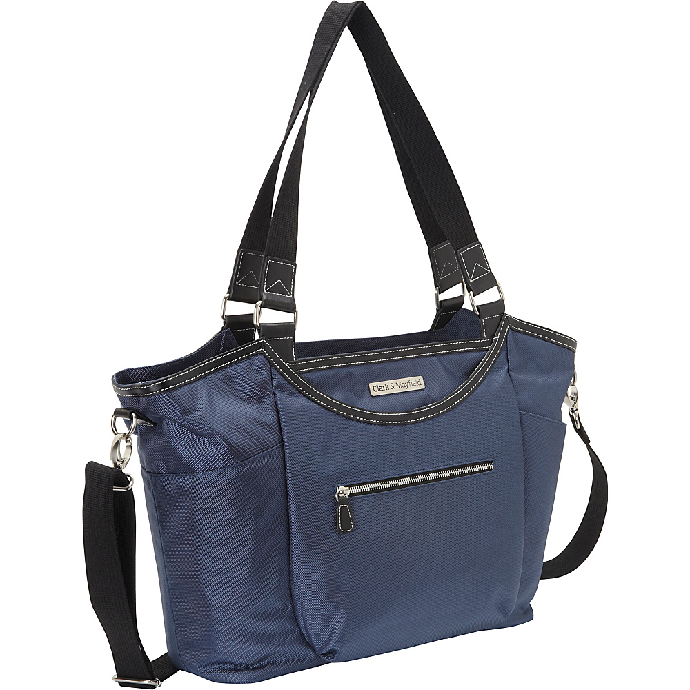 Clark Mayfield Bellevue Laptop Handbag 18.4 Navy Blue Clark Mayfield Women s Business Bags