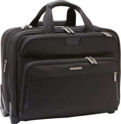 Briggs & Riley Large Expandable Rolling Laptop Brief Black - Briggs & Riley Wheeled Business Cases