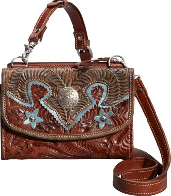 American West Texas-Two-Step Antique Tan - American West Leather Handbags