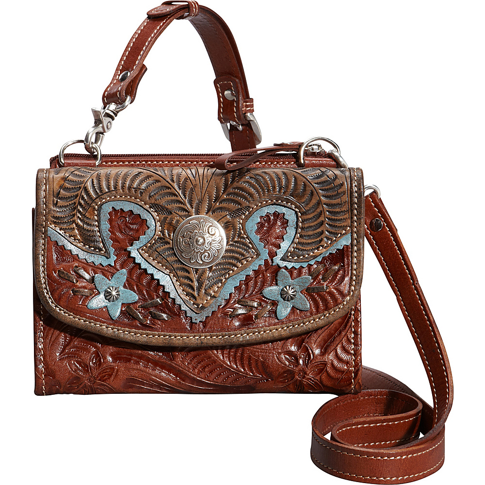 American West Texas Two Step Antique Tan American West Leather Handbags