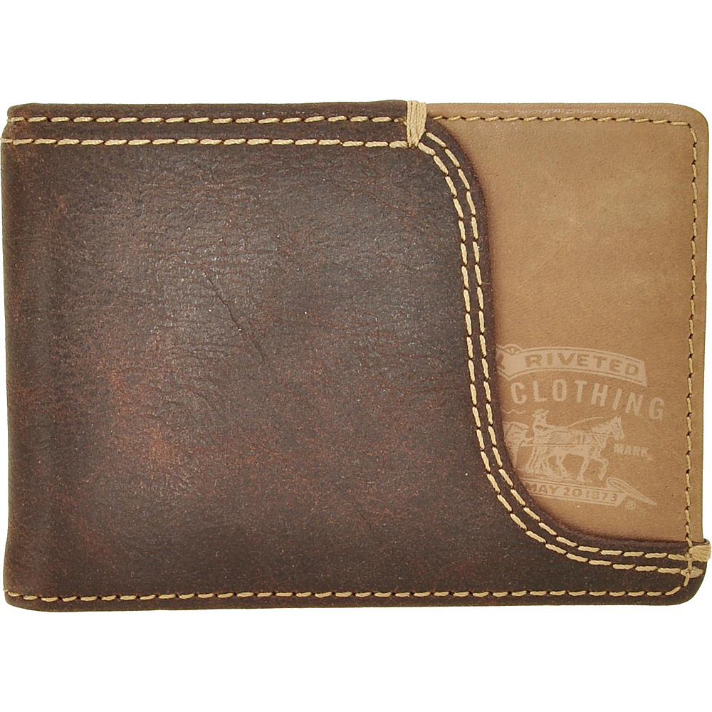 Levi's Front Pocket with Money Clip BROWN - Levi's Men's Wallets