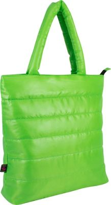 Fuel Neon Quilted Puffy Lap Top Tote Lime - Fuel All-Purpose Totes