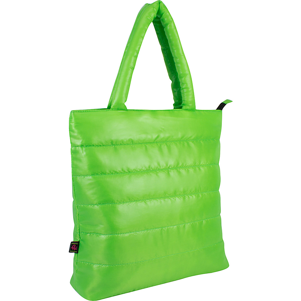 Fuel Neon Quilted Puffy Lap Top Tote Lime Fuel All Purpose Totes