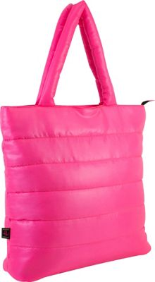 Fuel Neon Quilted Puffy Lap Top Tote Pink Sizzle - Fuel All-Purpose Totes