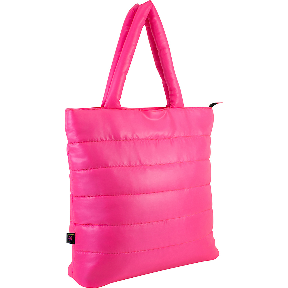Fuel Neon Quilted Puffy Lap Top Tote Pink Sizzle Fuel All Purpose Totes