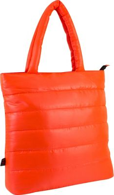 Fuel Neon Quilted Puffy Lap Top Tote Tangerine - Fuel All-Purpose Totes
