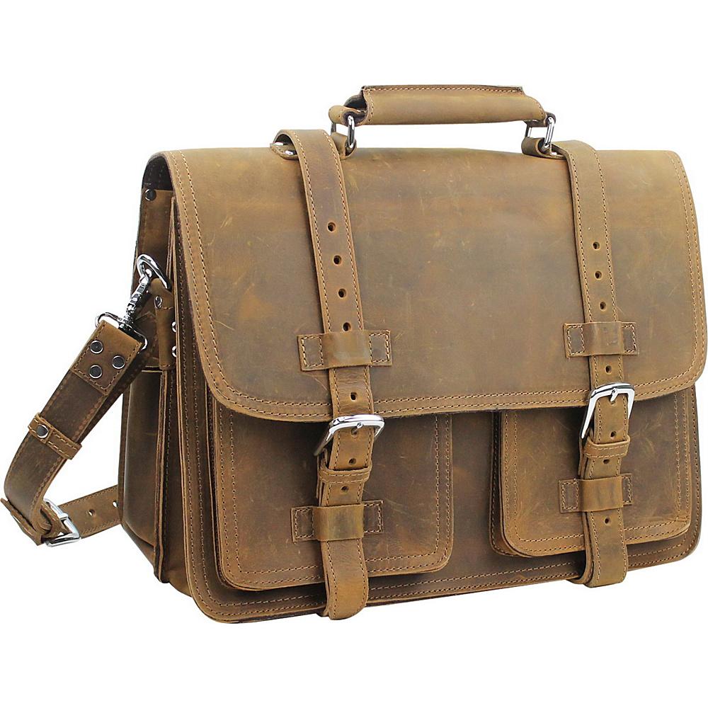 Vagabond Traveler 16 CEO Leather Briefcase Vintage Brown - Vagabond Traveler Non-Wheeled Business Cases - Work Bags & Briefcases, Non-Wheeled Business Cases