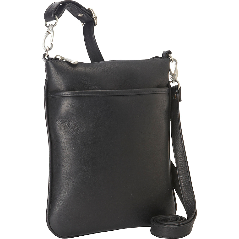 Le Donne Leather iPad Mini Xbody Bag Black - Le Donne Leather Leather Handbags - Handbags, Leather Handbags
