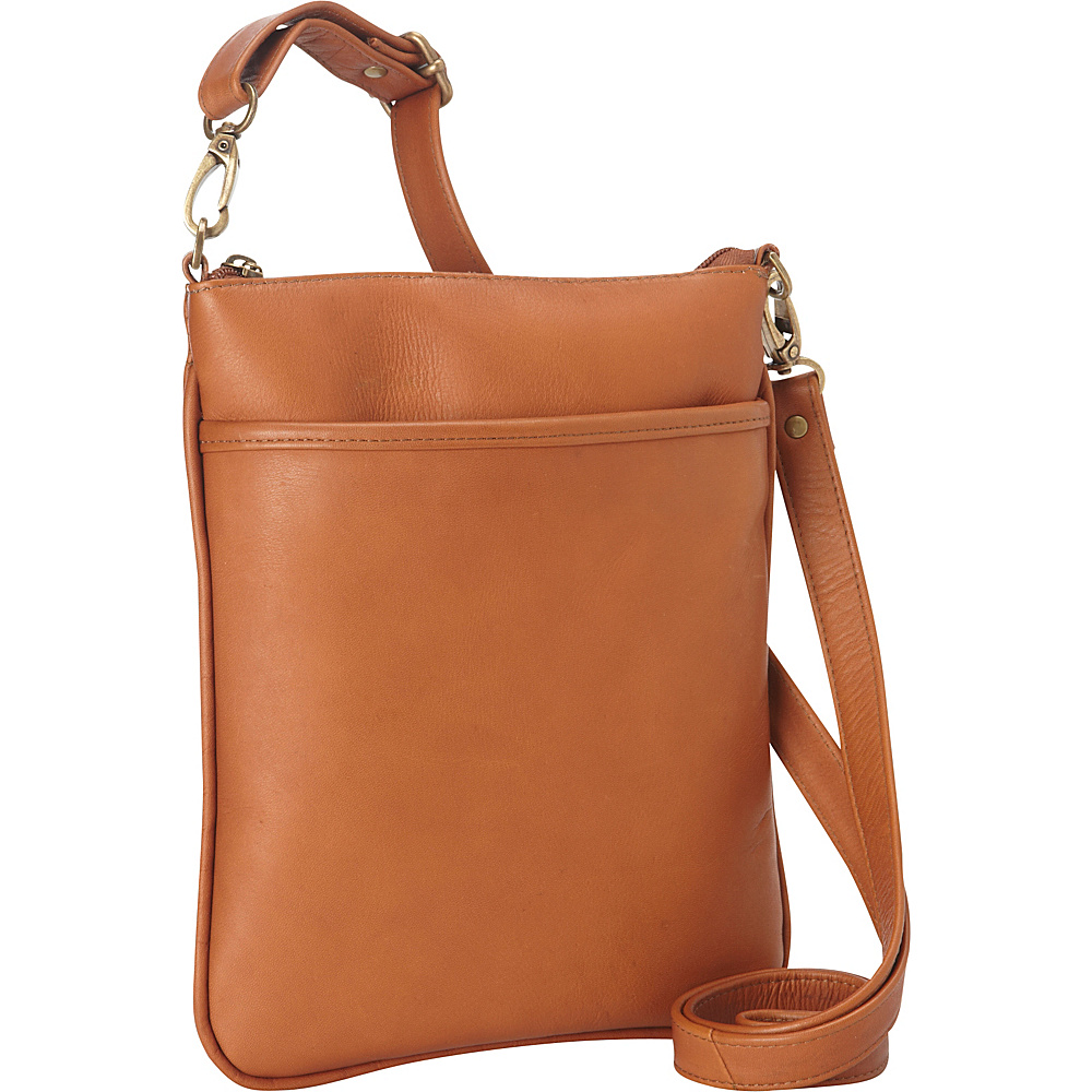 Le Donne Leather iPad Mini Xbody Bag Tan - Le Donne Leather Leather Handbags - Handbags, Leather Handbags