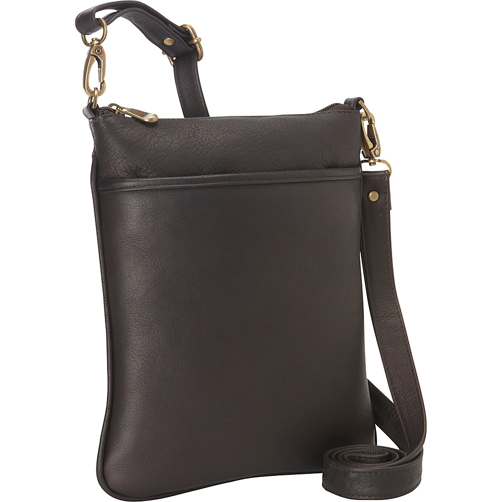 Le Donne Leather iPad Mini Xbody Bag Cafe - Le Donne Leather Leather Handbags - Handbags, Leather Handbags