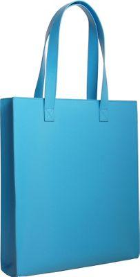 Paperthinks Long Tote Bag Blue Mist - Paperthinks Leather Handbags