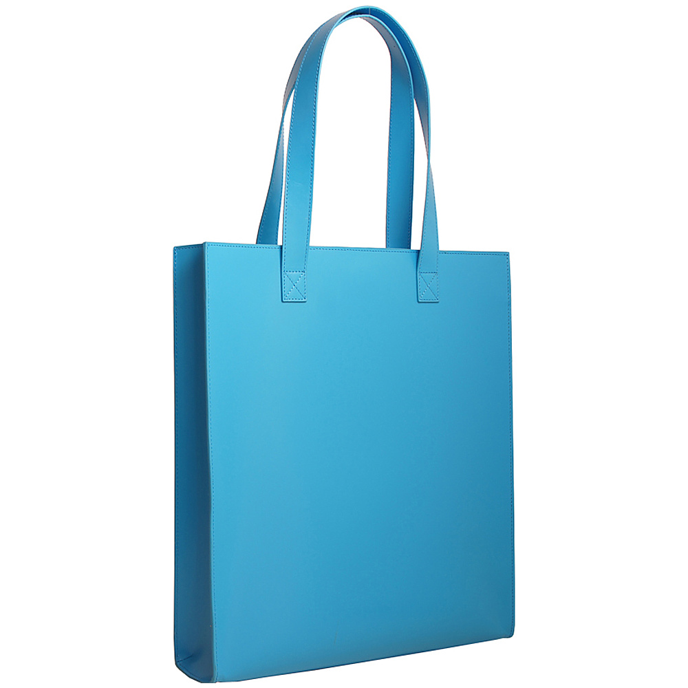 Paperthinks Long Tote Bag Blue Mist Paperthinks Leather Handbags