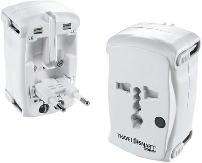 Travel Smart by Conair All-In-One Adapter Plug with Surge Protection White - Travel Smart by Conair Electronic Accessories