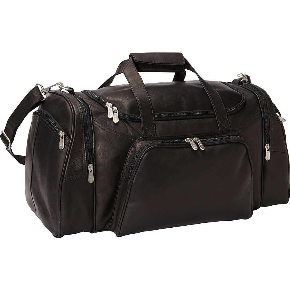 Piel Travel Duffel Black - Piel Travel Duffels - Duffels, Travel Duffels