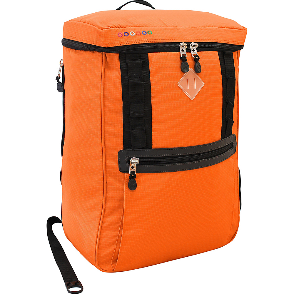 J World New York Rectan Laptop Backpack Orange - J World New York Business & Laptop Backpacks - Backpacks, Business & Laptop Backpacks
