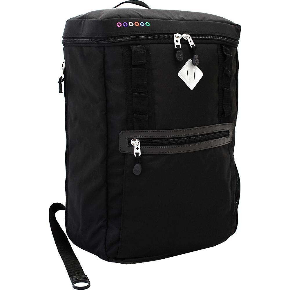 J World New York Rectan Laptop Backpack Black - J World New York Business & Laptop Backpacks - Backpacks, Business & Laptop Backpacks