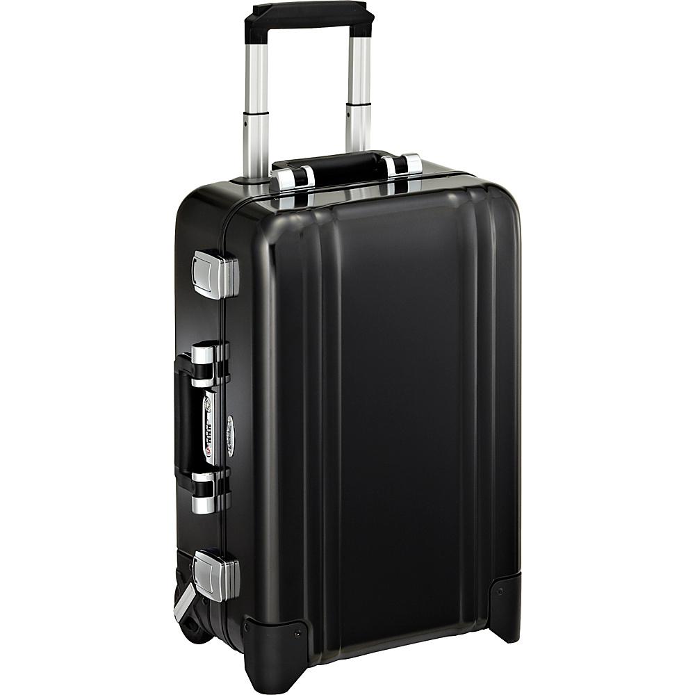 Zero Halliburton Classic Aluminum Carry On 2 Wheel Travel Case Black Zero Halliburton Hardside Carry On