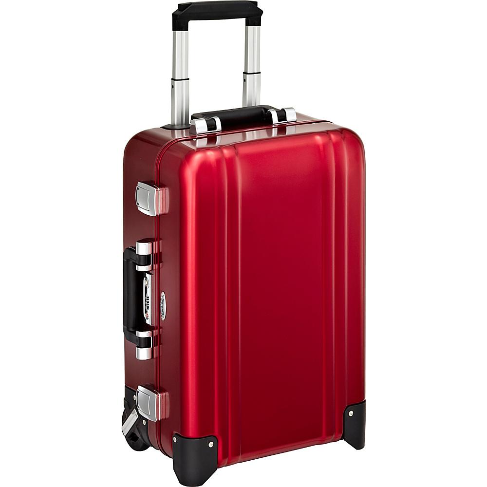 Zero Halliburton Classic Aluminum Carry On 2 Wheel Travel Case Red Zero Halliburton Hardside Carry On