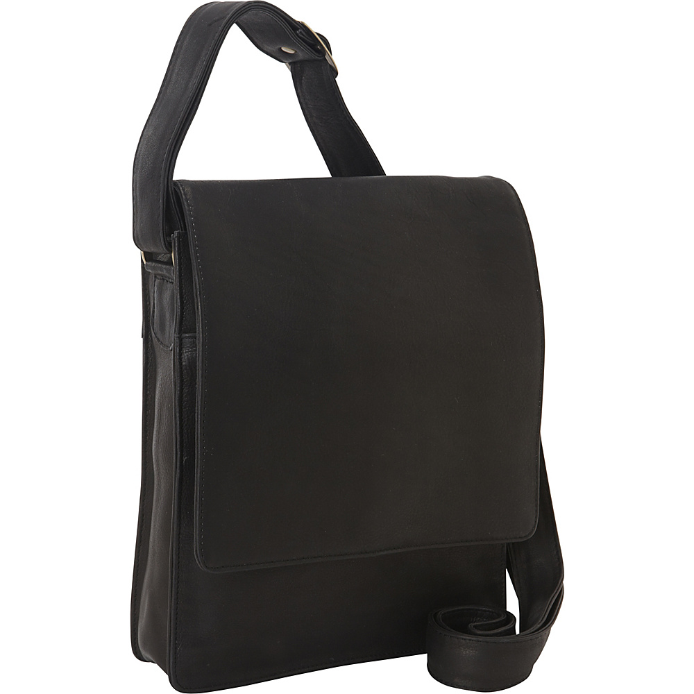 Derek Alexander NS 3/4 Flap Unisex Organizer Bag Black - Derek Alexander Other Mens Bags - Work Bags & Briefcases, Other Men's Bags
