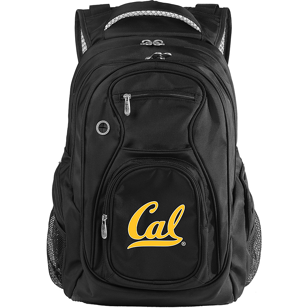 Denco Sports Luggage NCAA University of California (Berkeley) Bears 19 Laptop Backpack Black - Denco Sports Luggage Laptop Backpacks - Backpacks, Laptop Backpacks