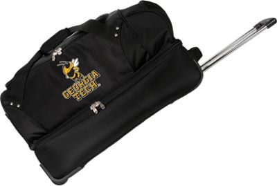 Denco Sports Luggage NCAA Georgia Tech University Yellow Jackets 27 inch Drop Bottom Wheeled Duffel Bag Black - Denco Sports Luggage Travel Duffels