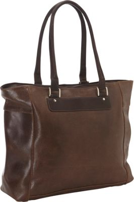 Piel Vintage Leather Executive Laptop Tote Vintage Brown - Piel Women's Business Bags