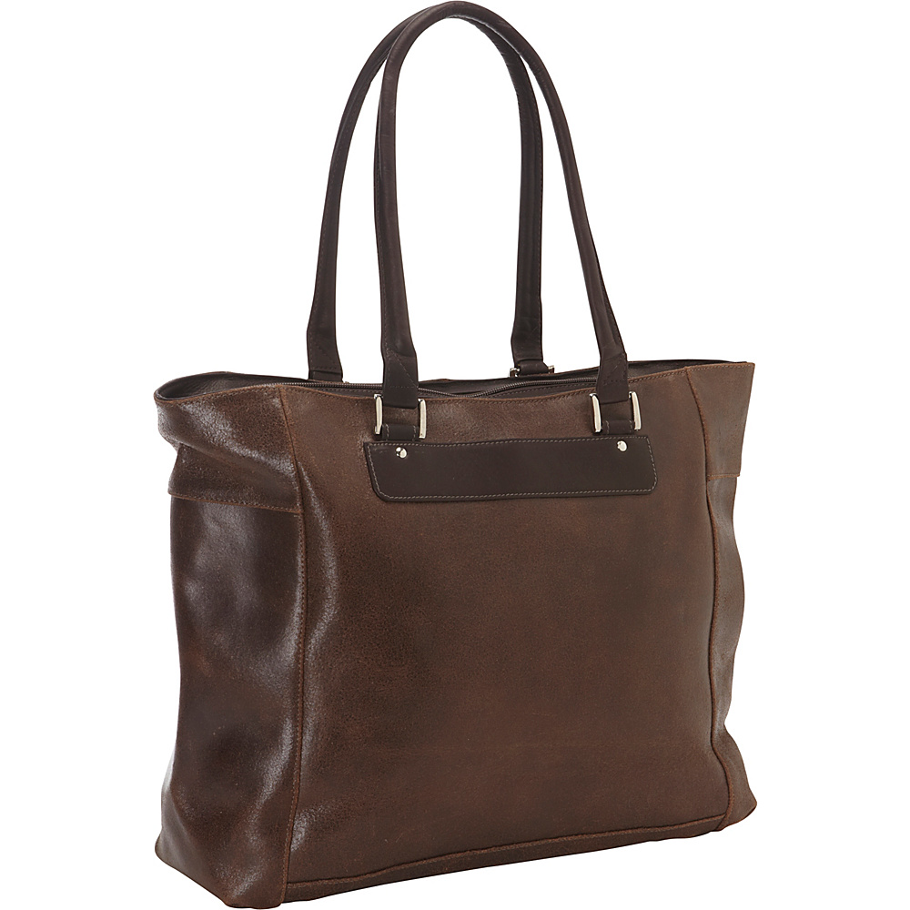 Piel Vintage Leather Executive Laptop Tote Vintage Brown - Piel Womens Business Bags - Work Bags & Briefcases, Women's Business Bags