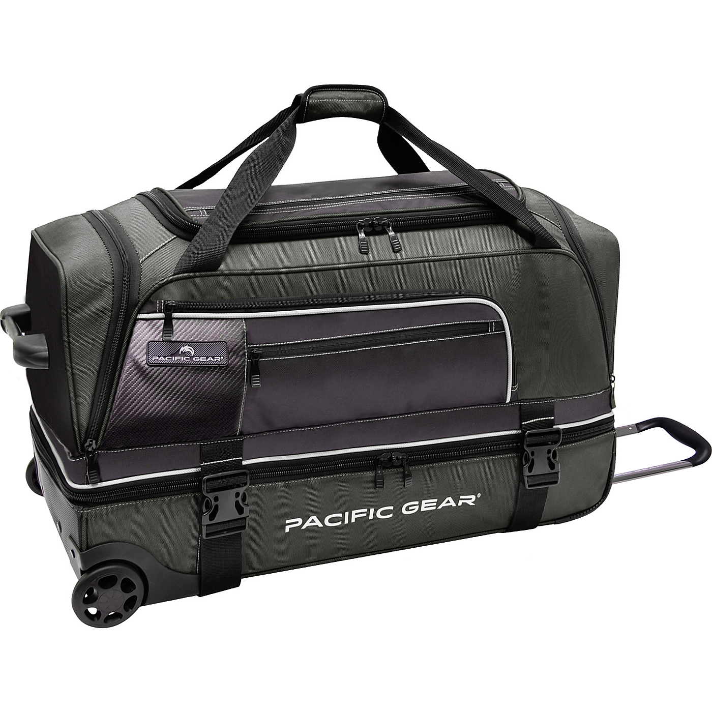 f8186b56fc9c Pacific Gear 30 Drop Bottom Rolling Duffel Bag Green Travele on ...