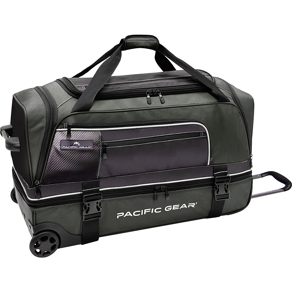 "Traveler's Choice Pacific Gear 30"" Drop-Bottom Rolling Duffel Bag Green - Traveler's Choice Rolling Duffels"