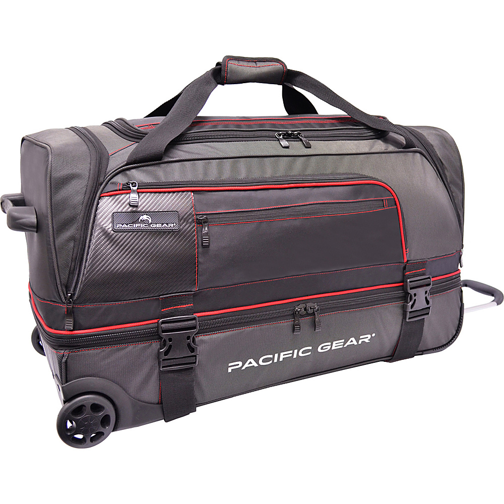 "Traveler's Choice Pacific Gear 30"" Drop-Bottom Rolling Duffel Bag Black - Traveler's Choice Rolling Duffels"