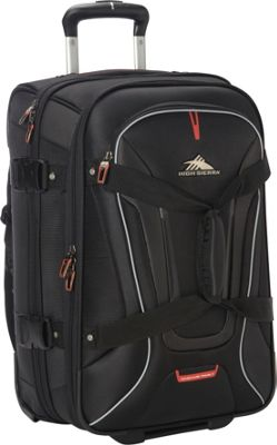 High Sierra AT7 Carry-on Wheeled Duffel with Backpack straps Black - High Sierra Travel Duffels