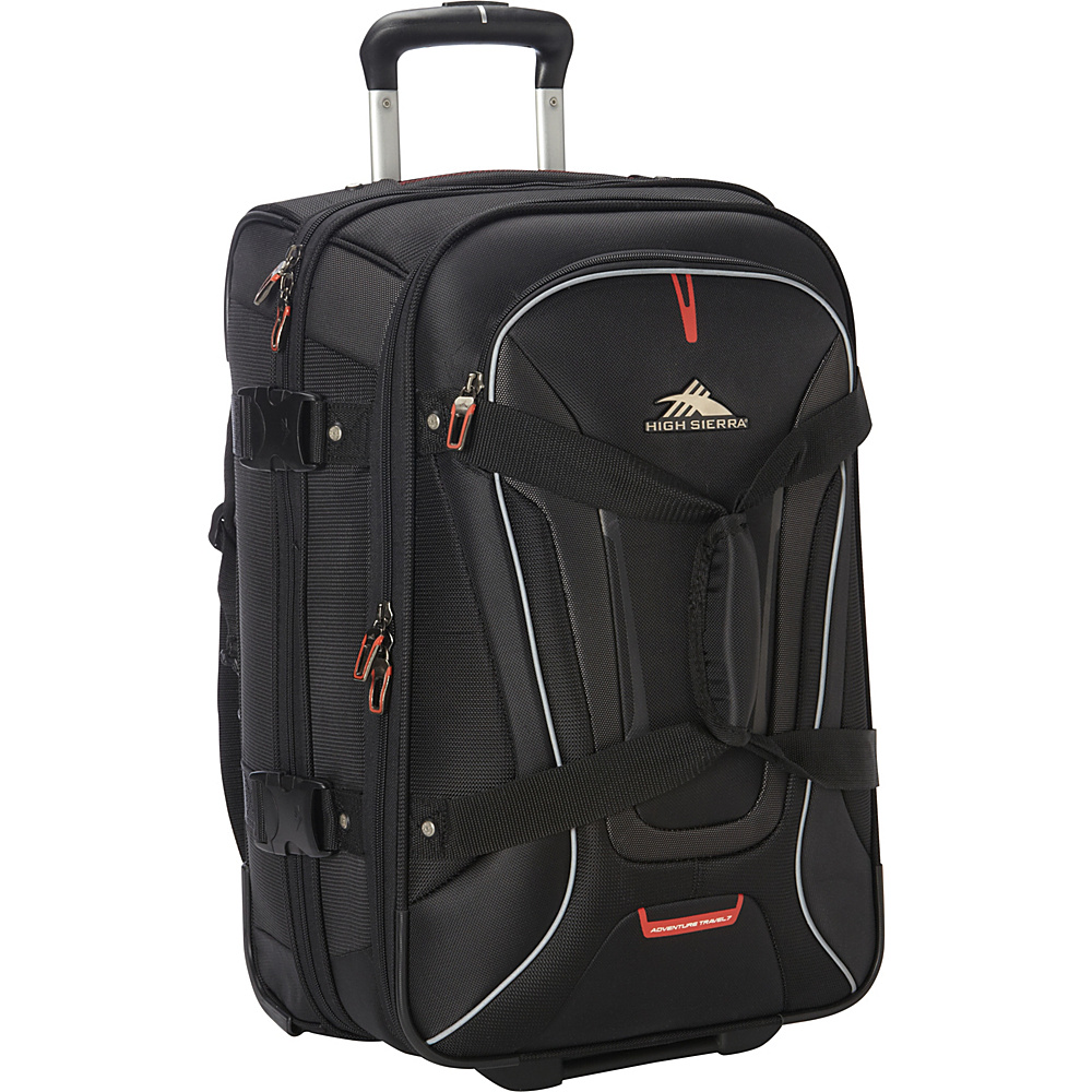 High Sierra AT7 Carry on Wheeled Duffel with Backpack straps Black High Sierra Rolling Duffels