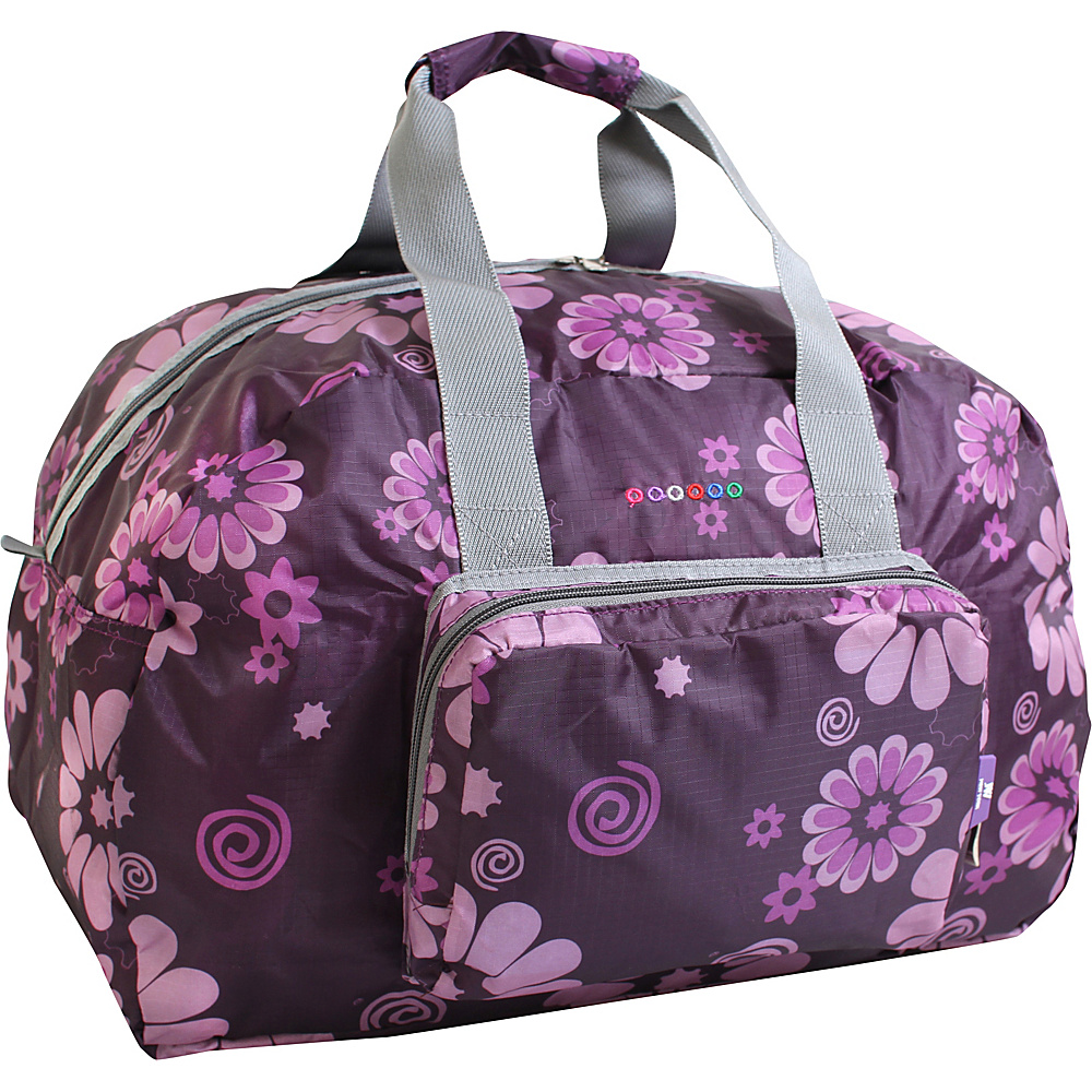 J World New York Buena Duffel Bag Purple Flower - J World New York Travel Duffels