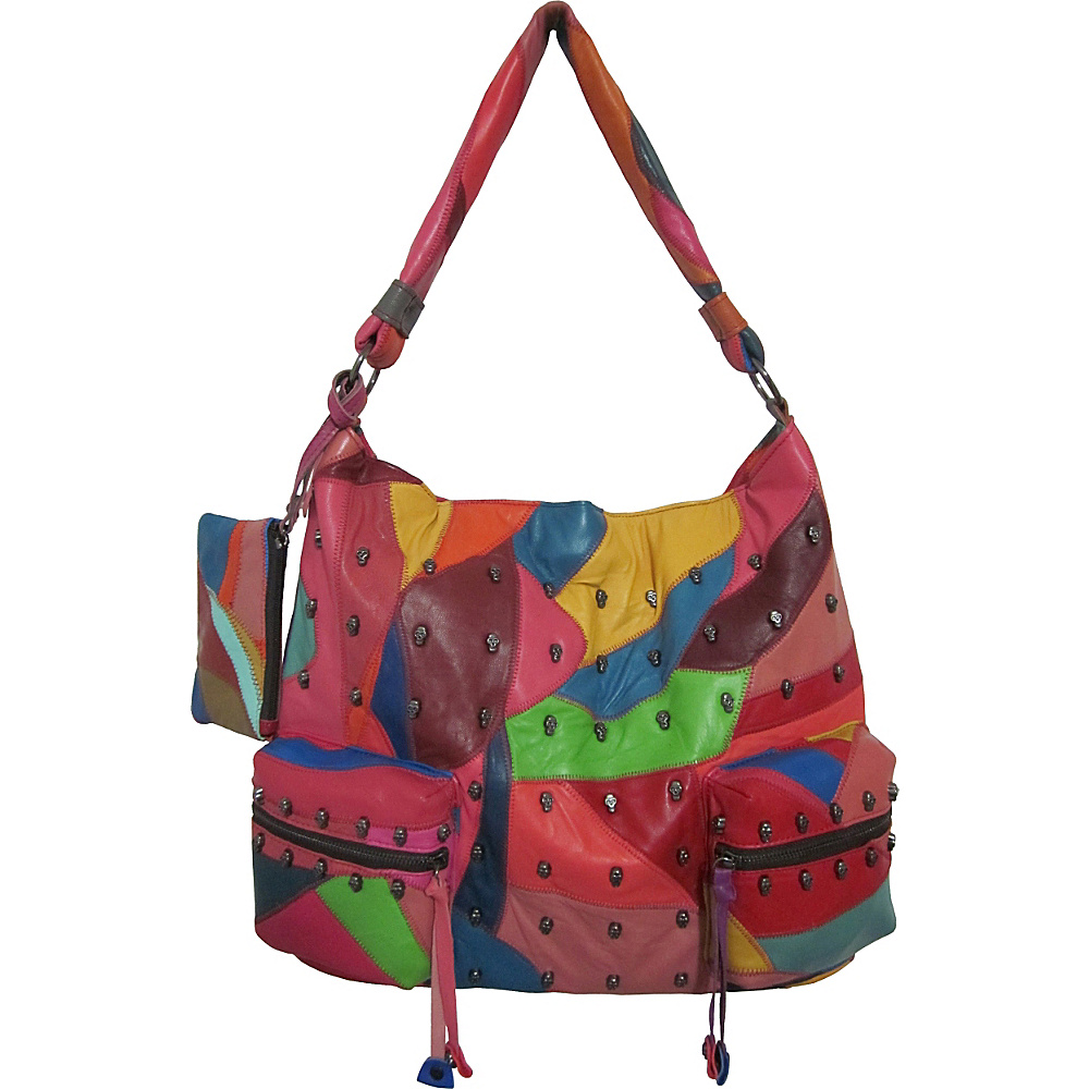 AmeriLeather QMetal Mini Skulls Rainbow - AmeriLeather Leather Handbags - Handbags, Leather Handbags
