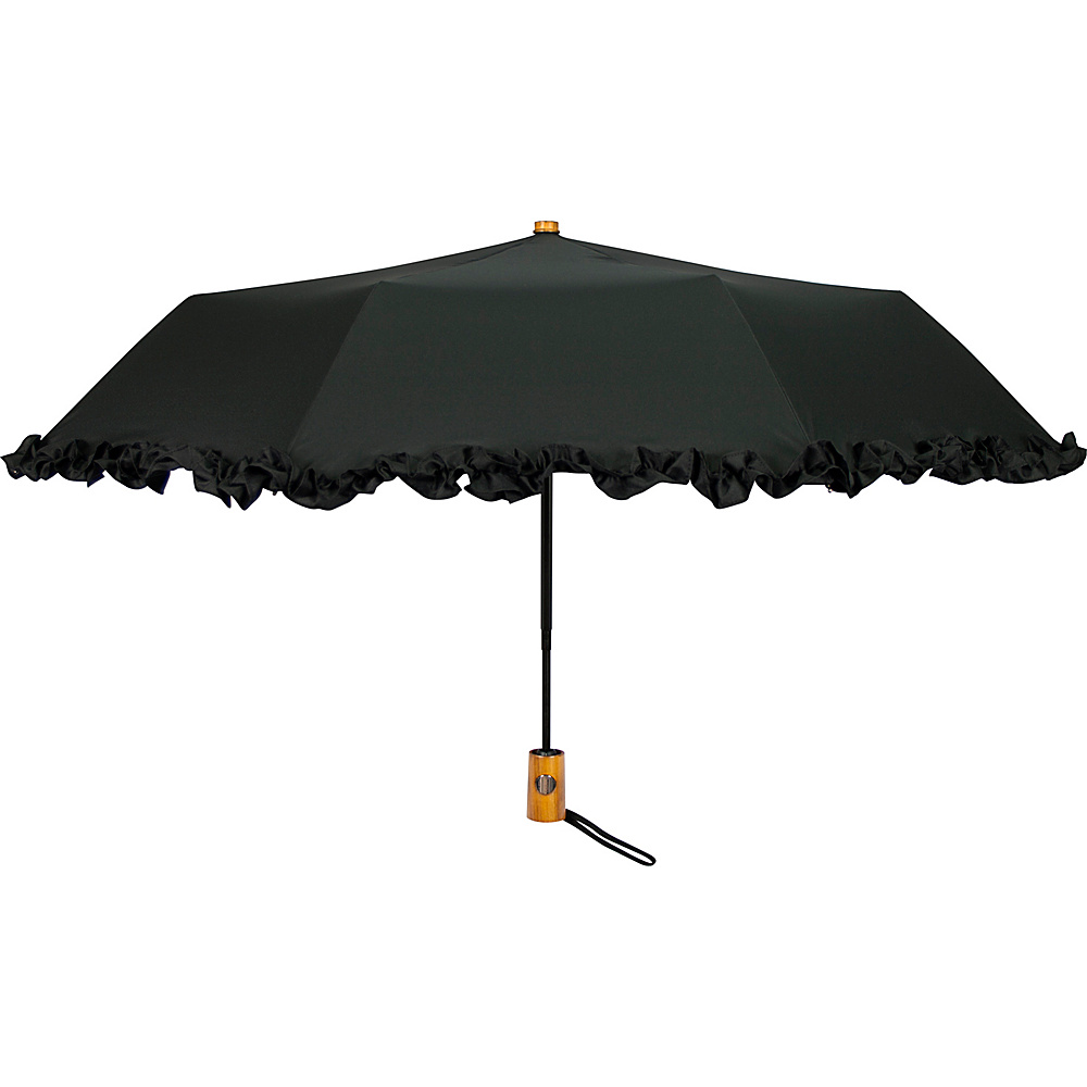 Leighton Umbrellas Ruffles black Leighton Umbrellas Umbrellas and Rain Gear