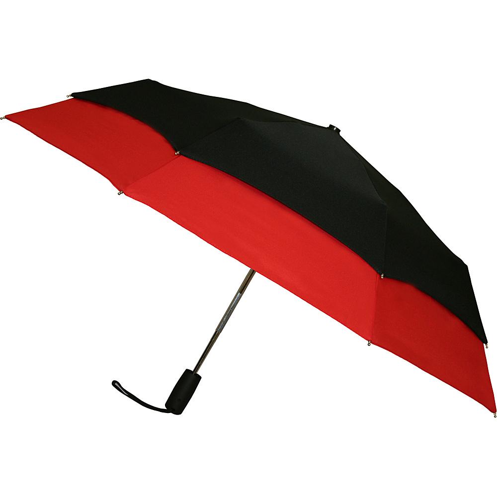 Leighton Umbrellas Falcon red black Leighton Umbrellas Umbrellas and Rain Gear