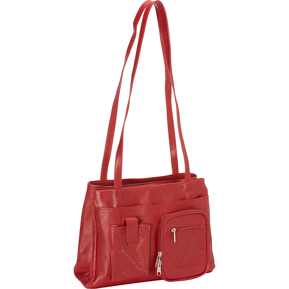Ropin West Concealed Weapon Handbag Red Ropin West Leather Handbags