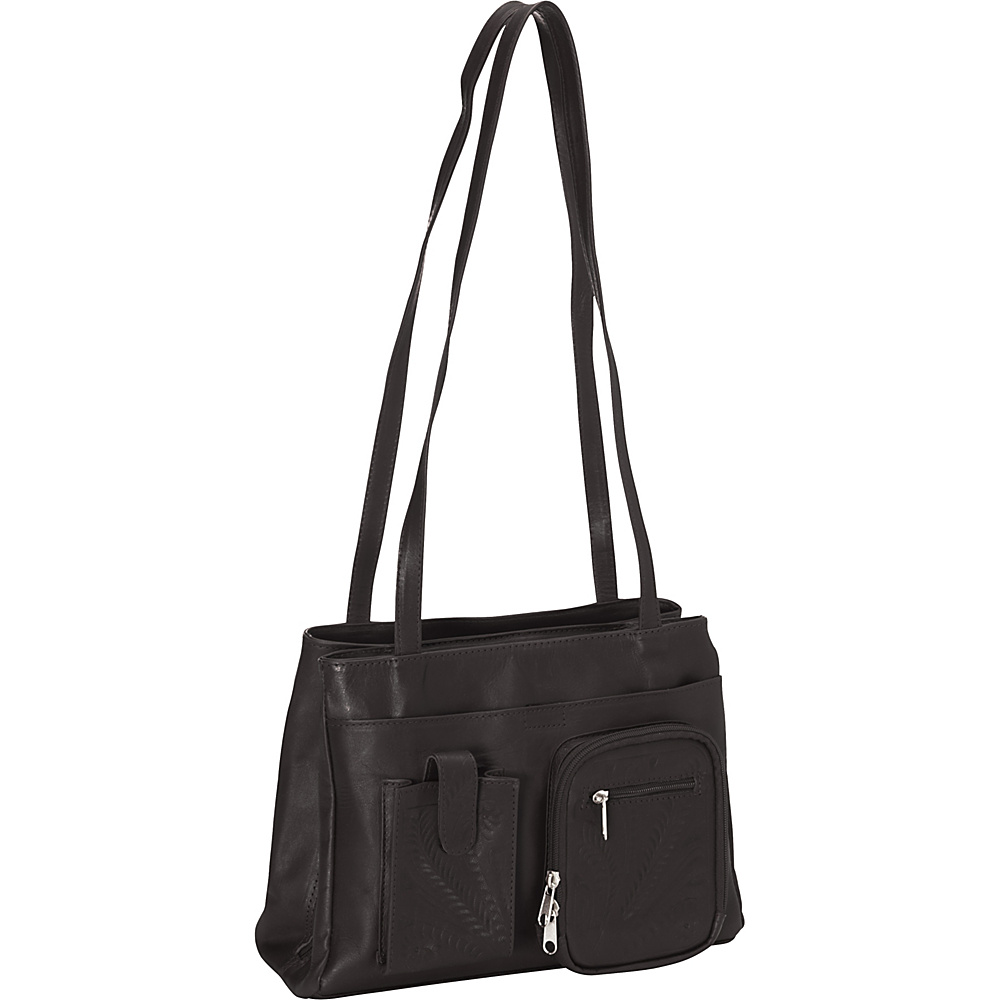 Ropin West Concealed Weapon Handbag Black Ropin West Leather Handbags