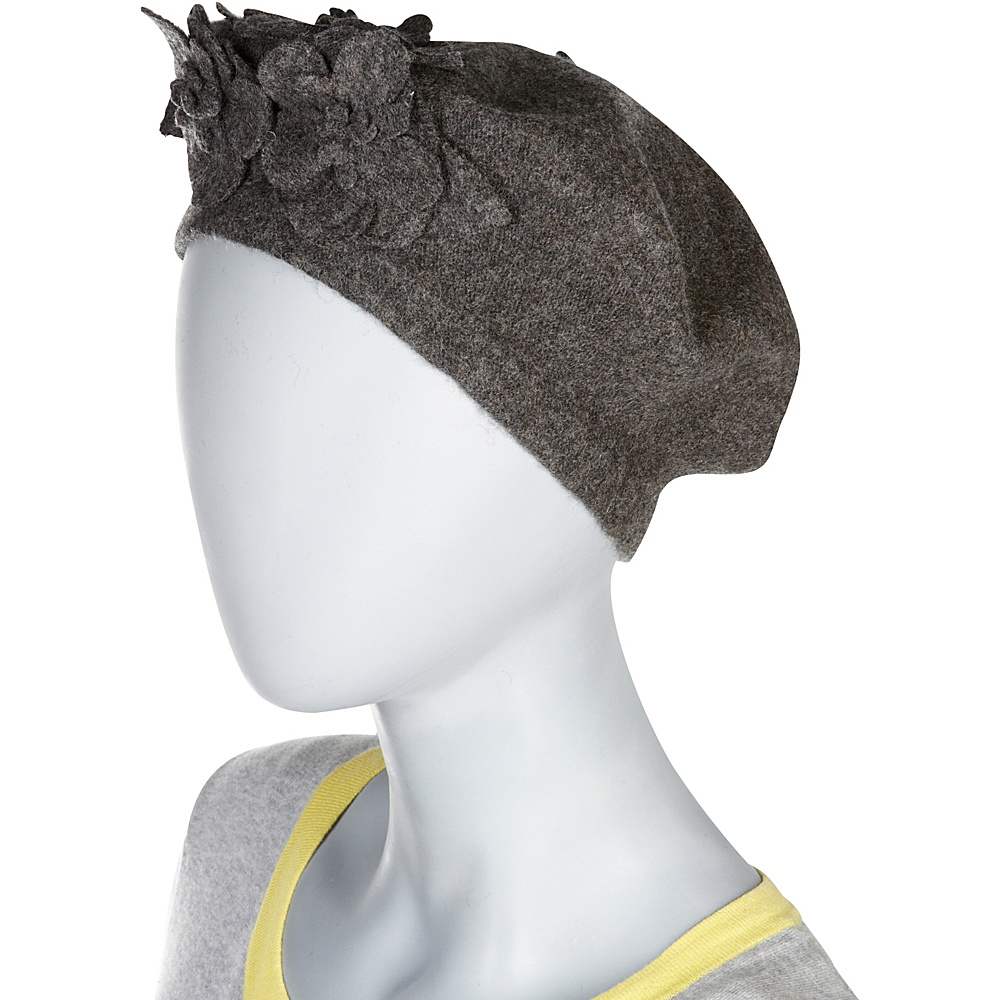 Betmar New York Flower Beret One Size - Black - Betmar New York Hats/Gloves/Scarves