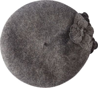 Betmar New York Flower Beret One Size - Charcoal Heather - Betmar New York Hats/Gloves/Scarves