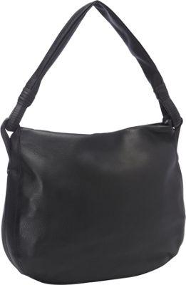 Derek Alexander Inset Top Zip Hobo Black - Derek Alexander Leather Handbags