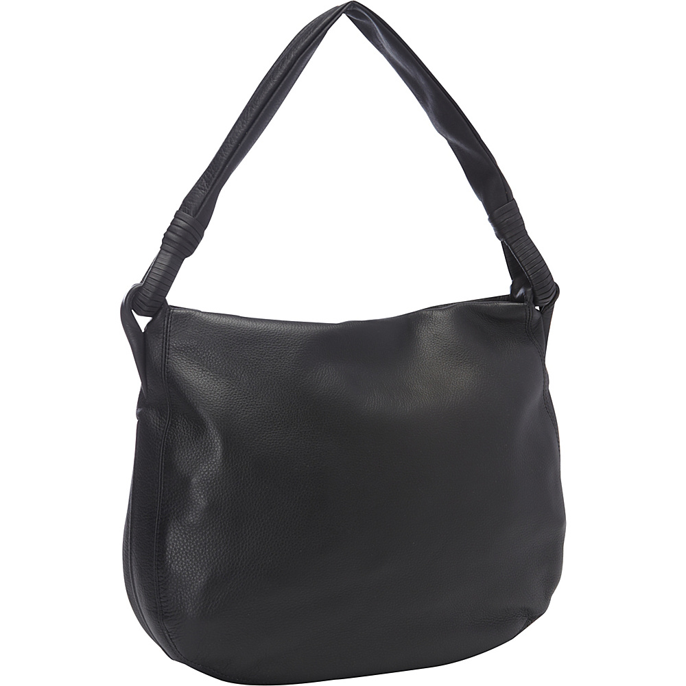 Derek Alexander Inset Top Zip Hobo Black - Derek Alexander Leather Handbags - Handbags, Leather Handbags