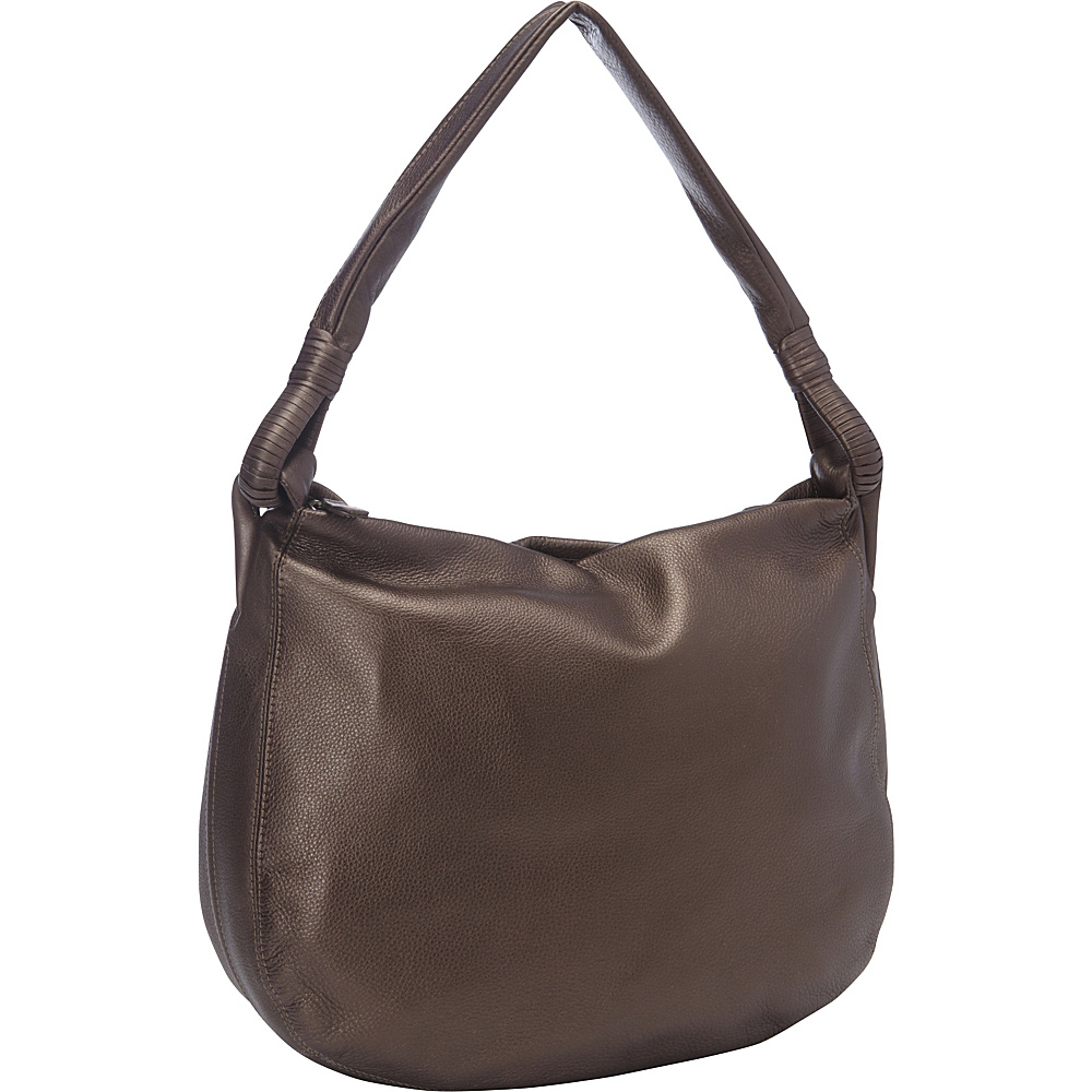 Derek Alexander Inset Top Zip Hobo Bronze - Derek Alexander Leather Handbags - Handbags, Leather Handbags
